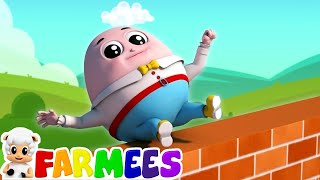 humpty dumpty sat on a wall | nursery rhymes Farmees | kids songs | baby rhymes