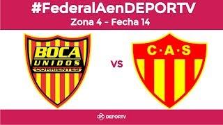 #FederalAenDEPORTV - Boca Unidos vs Sarmiento - Zona 4 - Fecha 14