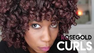 ROSEGOLD CURLS w/ Ion Color Brilliance Metallics Temporary Liquid Hair Makeup