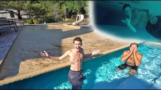 SWIMMING UNDER THE COVER CHALLENGE! *TRY NOT TO DROWN*