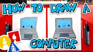 How To Draw A Funny Laptop Computer + Spotlight