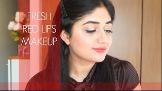 Fresh Daytime Red Lips Makeup Tutorial | corallista