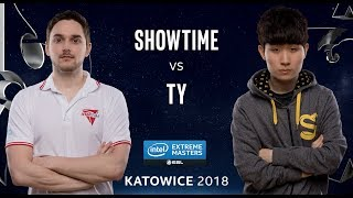 StarCraft II - ShoWTimE [P] vs. TY [T] - Ro24 - Group A - IEM Katowice 2018