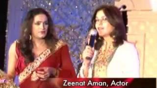 Zeenat Aman and Celina Jaitley as judges at Transgender event