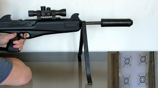 Semi-Automatic Airgun Crosman Nightstalker 10 Yard Accuracy Test