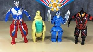 Ultra Eggs: Ultraman Zero, Red King, Alien Baltan, Ultraman Belial