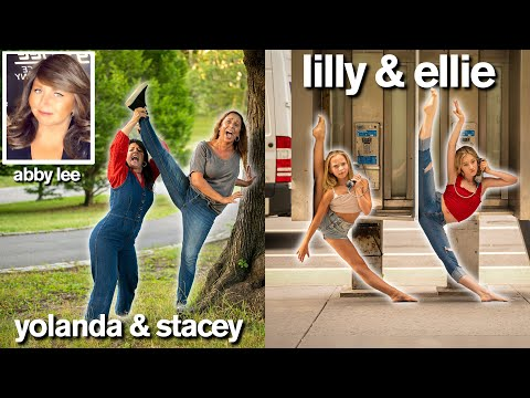 DANCE MOMS vs DAUGHTERS Funny Photo Challenge with Lilly & Ellie ft Abby Lee Miller