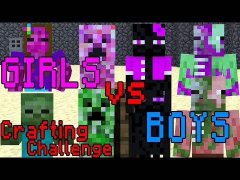 Xxx Mp4 Monster School Girls Vs Boys Crafting Challenge Minecraft Animation 3gp Sex