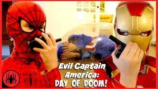 Evil Captain America DAY OF DOOM Lock Down Iron Man Supergirl comics in real life SuperHero Kids