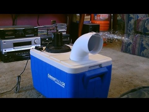 Homemade air conditioner DIY Awesome Air Cooler EASY Instructions can be solar powered