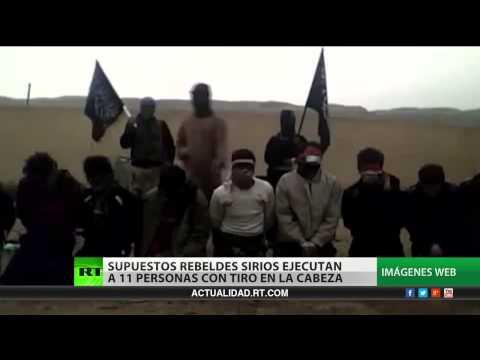 Video Brutal ejecución de personas desarmadas por terroristas en Siria