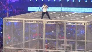 Shane McMahon off the cage at mania