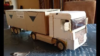 How To Make Container Trucks DAF Amazing cardboard DIY