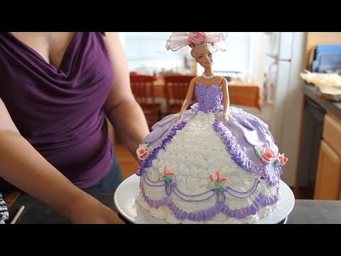 Barbie Doll Cake How to decorate a Barbie Doll Princess Cake with icing
