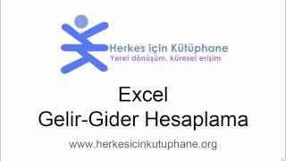 Excel Gelir-Gider Hesaplama Eğitimi