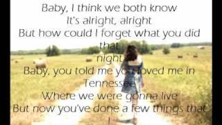 Me and Tennessee by Tim McGraw Lyrics