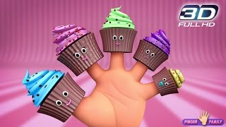 The Finger Family Cup Cakes Family Nursery Rhyme | 3D Cup Cakes Finger Family Songs