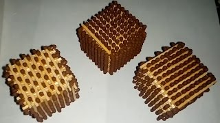 How to make matchstick cube | Manvinder Singh | You need a Six small Rubber tube & matchsticks