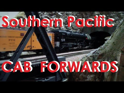 O scale 2 Rail ~ Southern Pacific SP AC12 Cab Forwards on Gary Schrader's Train Layout