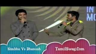 SIMBHU and DHANUSH Dance Sing Kolaveri Di Song ON AWARD SHOW