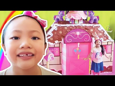 Giant Pinkie Pie Box Fort House MLP Pretend Play