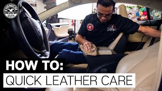 How To Clean Dirty Leather Interior   Tesla Model S   Chemical Guys