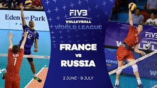 France v Russia highlights - FIVB World League