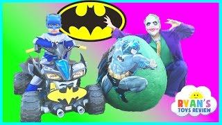 SUPER GIANT BATMAN SURPRISE EGG TOYS OPENING Batman v Joker Dc Superheroes Imaginext Toys Kids Video