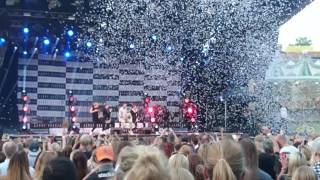 Danny Saucedo and The fooo Conspiracy- My girl live at Gröna Lund 2016-06-03