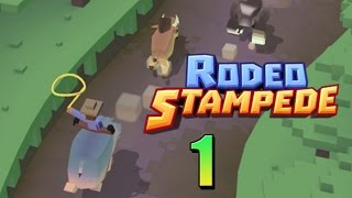 Rodeo Stampede| Riding Buffalo and  Zebras Yee Haw!! Gameplay/commentary [1]