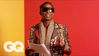 "Young Thug Reads the Lyrics to Song ""Best Friend"" So You Can Actually Understand Them. Kind Of"