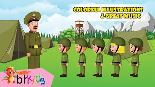 Five Little Soldiers | Animation For Kids | Nursery Rhymes Songs For Children