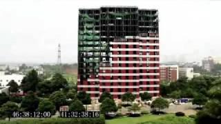 ساخت يك هتل 15 طبقه در طي 6 روز در شانگهاي چين - ويديو