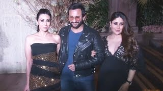 Pregnant Kareena Kapoor, Saif Ali Khan, Karisma Kapoor At Manish Malhotra's 50th Birthday Party