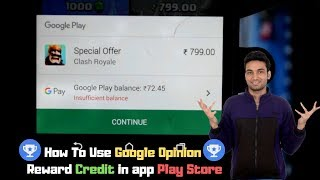 How To Use Google Opinion Rewards Credit in app Play Store