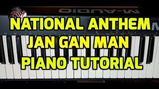 NATIONAL ANTHEM PIANO HINDI TUTORIAL # JAN GAN MAN # BOLLYWOOD NOTES