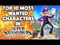 Top 10 Most Wanted Characters in Super Smash Bros. Ultimate