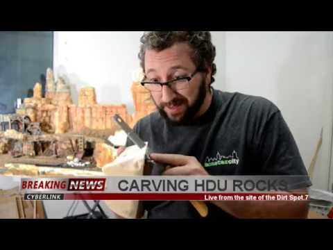 ROCK CARVING with HDU Foam for models AND dioramas.