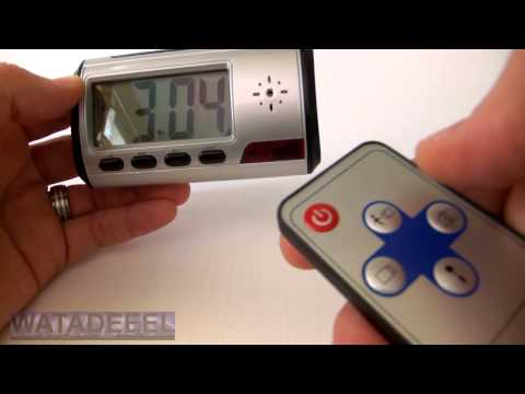 Digital Spy Camera Clock with Motion Activation DEMO