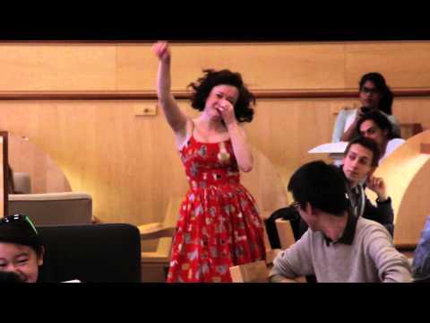 Flashmob in Lamont Library - Harvard University
