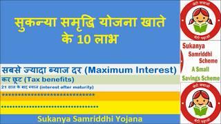 सुकन्या समृद्धि योजना खाते के 10 लाभ (benefits of sukanya samriddhi yojana) in hindi