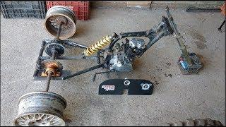 Triciclo Cross Motor de moto 125cc Construção Paulo Mootores