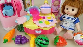 Baby doll fruit juice jelly maker and kitchen play