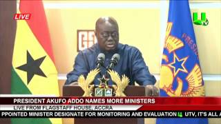 VIDEO: Prez Akufo-Addo names second batch of Ministerial Nominees