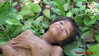 Primitive Technology - Eating delicious - Cooking roasted oyster in wild