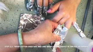 Removing NuGenesis Nails Dip Powder Manicured Nails