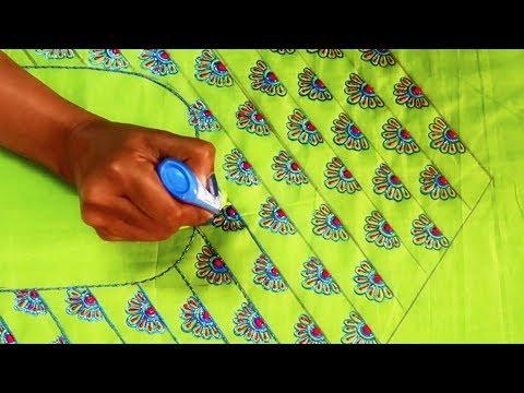 Xxx Mp4 Beautiful Green Blue Color Combination Latest Designer Stylish Kurti Neck Embroidery Design 3gp Sex