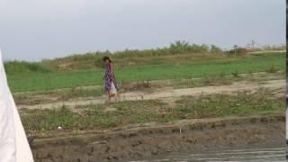 bangladeshi girl walking by river