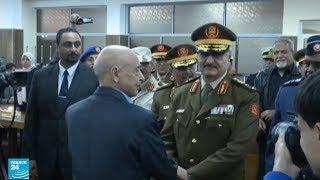 هل التقى رئيس وزراء إيطاليا جوزيبي كونتي بالمشير خليفة حفتر في بنغازي؟