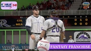 MLB 14: The Show (PS4) Colorado Rockies Fantasy Draft Franchise EP2 (Opening Day + More!)
